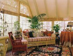 indoor sunroom furniture ideas wicker sunroom furniture striped upholstery colorful area rug