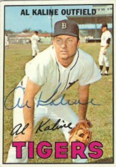 1967 Topps Al Kaline Baseball autographed trading card Baseball Park, Detroit Tigers Baseball, Baseball Photos, Baseball Players, Baseball Stuff, Giants Baseball, Pittsburgh Steelers, Dallas Cowboys, Baseball Card Values