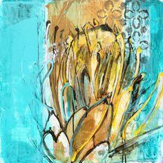 "Name: ""Jewel"" Series: Protea Medium: Acrylic on board Dimensions: x Artist: Janine Holloway Paintings I Love, Africa, Jewels, Board, Artist, Flowers, Studios, Medium, Jewerly"
