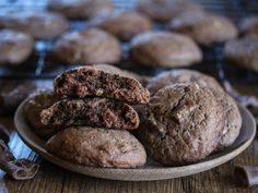 Brownie Cookies, Dessert Recipes, Desserts, Shortbread, Tasty, Sweets, Chocolate, Baking, Food