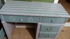 Chevron topped desk using Shape Tape!