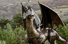 Dewi the Dragon in Harlech Not sure that this is his best side but you can't say that to a dragon!!