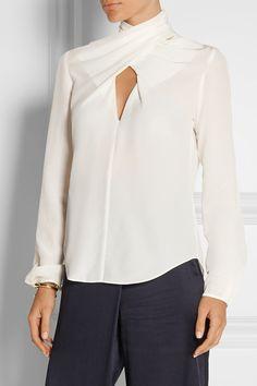 Temperley London | Soleas open-back silk crepe de chine blouse | NET-A-PORTER.COM