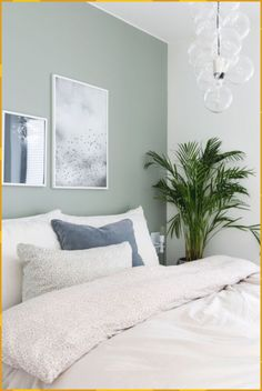 20 Popular Bedroom Paint Colors that Give You Positive Vibes - One day - bedroom colors Day give Paint Popular Positive Vibes Green Bedroom Design, Bedroom Green, Small Room Bedroom, Home Decor Bedroom, Modern Bedroom, Bedroom Furniture, Small Rooms, Bedroom Ideas, Bedroom Images