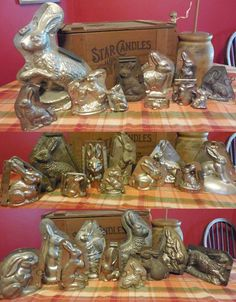 This listing is for the following:10 different antique chocolate bunny molds. They come as seen with their original clips. A few short months ago, the family lost PaPa Smith unexpectedly.