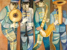 Lucio Ranucci Paintings, The Marching Band.