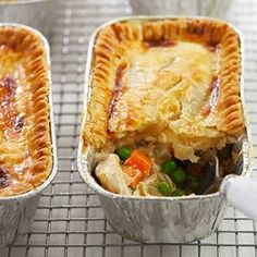 Freezer chicken pot pie. Lots of work but freezes well and can heat up single servings.