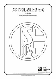 FC Schalke 04 logo coloring / Coloring page with FC Schalke 04 logo / FC Schalke…