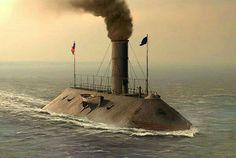 """CSS """"Virginia"""" ironclad , Civil War"""
