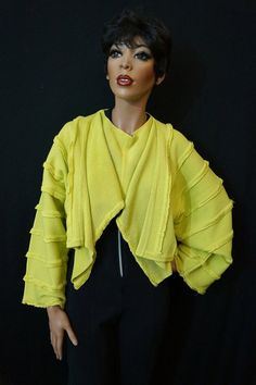 80s Avant Garde Issey Miyake Draped Chartreuse by ModVibeVintage, $495.00 ~ SO VERY UNIQUE
