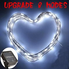 String Lights ElecLi 100Led copper wire Rope Lights UPGRADE 8 MODES Solar Powered led Indoor and Outdoor Starry String Lights for Gardens, Patios, Homes, Parties and All Decorations 33-Feet (White) >>> To view further, visit now : Garden Christmas Decorations