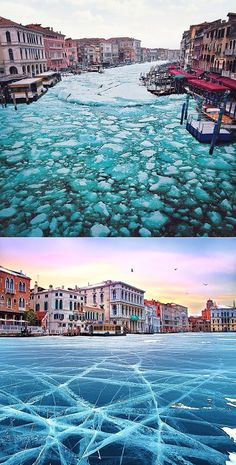 Travel Photography Discover Frozen Venice Have you ever been to Venice?Whether its in its own natural state occasionally underwater or even frozen - Venice alwa. Beautiful Places To Visit, Wonderful Places, Beautiful World, Great Places, Places To Travel, Places To Go, Photo D Art, Adventure Is Out There, Dream Vacations