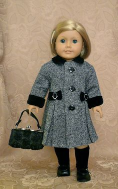 American Girl 18 inch doll clothes Coat Hat by Calyxadollcreations