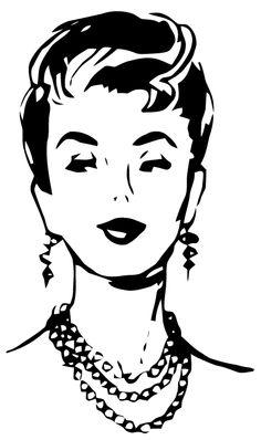 Vector Preto E Branco Free Vector Art: fashionable lady Retro Images, Vintage Images, Vintage Ladies, Retro Vintage, Audrey Hepburn Photos, Music Illustration, Illustrations, Free Vector Art, Rock Art