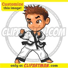 Martial Arts cartoon Boy & Karate clipart - Clipartman.com
