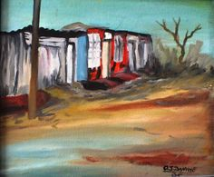 Township Living - Oil Canvas -  OJ Dwane Living Oils, Art Gallery, Canvas, Painting, Tela, Art Museum, Fine Art Gallery, Painting Art, Paintings
