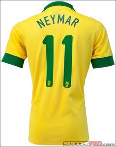 Nike Brazil Neymar Home Jersey 2013...$101.49