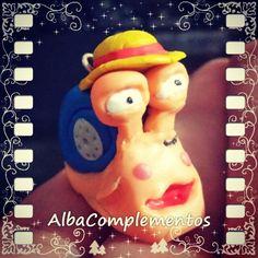#colgante #DenDenMushi #Mugiwara #OnePiece #SombreroDePaja #Luffy #HechoAMano #AlbaComplementos