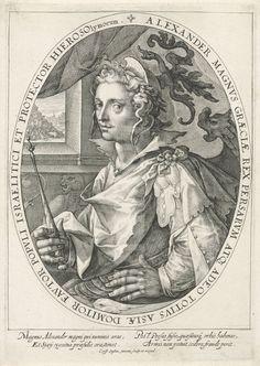 The hero Alexander the Great, Crispijn van de Passe (I), 1574 - 1637.