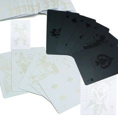 Black Deck of Cards and White Deck of Cards
