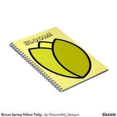 Shop Bloom Spring Yellow Tulip Flower Notebook created by CheoniePal_Designs. Yellow Tulips, Tulips Flowers, Notebooks, Spiral, Color Pop, Bloom, Colour Pop, Notebook, Laptops
