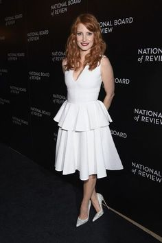 Jessica Chastain Photos: National Board of Review Gala - Total Street Style Looks And Fashion Outfit Ideas