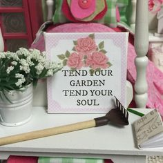 A personal favorite from my Etsy shop https://www.etsy.com/listing/277106512/tend-your-garden-canvas-word-art-2-x-2
