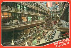 The Arcade  Cleveland, Ohio  Owners:  Harvey Oppmann,  Herb McLaughlin and Edward Connor  The Old-World charm of the Arcade serves as the setting for some of Cleveland's finest choral and instrumental music during the holidays.  Christmas shoppers delight in the unique shops and restaurants found within this century-old building.