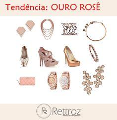 Acessórios e joias de tons dourado rosê estão em alta. Aposte em sua aparência romântica!