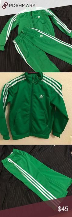 Kids adidas jumpsuit set New condition size Small jacket EXTRA small pants Adidas Matching Sets