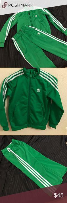 Kids adidas jumpsuit set New condition size Small jacket EXTRA small pants Adidas Matching Sets
