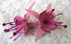 3D Fuschia Flowers SVG on Craftsuprint designed by Tina Fitch - A beautiful 3D embellishment for you to add to your own projects...Registered Design. - Now available for download!
