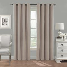 eclipse Nadya Linen Polyester Blackout Thermal Lined Single Curtain Panel at Lowe's. Transform any room in your home with the Eclipse Nadya blackout curtain. Update the bedroom, living room or dining room and enjoy the light blocking, Blackout Panels, Blackout Windows, Blackout Curtains, Transitional Windows, Transitional Window Treatments, Drapery Panels, Window Panels, Cotton Curtains, Drapes Curtains