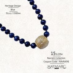 #Navratri Collection - Blue Agate #beads & gold-plated barrel focal #jewels @ #BigBillionDays https://www.mayasarc.com/product/heritage-blue-agates-golden-barrel/1915-1928?utm_content=buffer80132&utm_medium=social&utm_source=pinterest.com&utm_campaign=buffer
