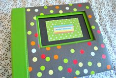 homemade baby book - great gift idea