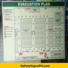 Sintra Board Glow in the Dark Evacuation Plan Evacuation Plan, Exit Sign, Philippines, Maps, Glow, How To Plan, Board, Map, Sparkle