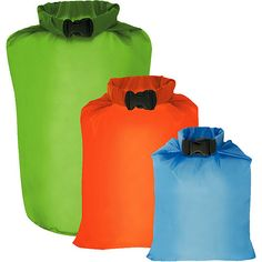 $9.97 Outdoor Recreation Group - Set of 3 Ultimate Dry Sacks- for keeping your gear dry. (Think sleeping bags, clothes, even food or survival gear.)