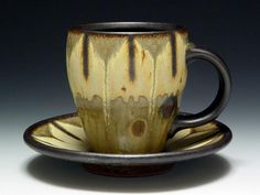 Mark Cole ceramic cup and saucer