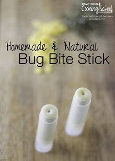 "Homemade & Natural Bug Bite Stick | Summer comes hand-in-hand with bug bites. Let me introduce the ""bug bite stick"" -- a chapstick tube containing a simple salve made from plantain, echinacea, and lavender. I've made this salve for a few years now, and it really works to relieve the itch! 