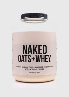 Organic Oats & Grass Fed Whey Protein - Naked Oats + Whey