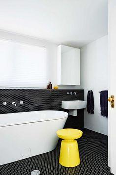 black-white-bathroom-hexagonal-tile-bath-tub-jun15