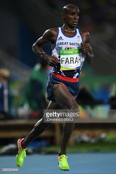 Britain's Mo Farah competes in the Men's 10000m during the athletics event at the Rio 2016 Olympic Games at the Olympic Stadium in Rio de Janeiro on...