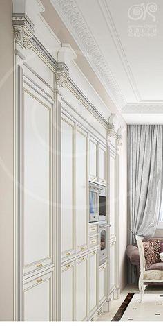 Кухонный гарнитур по индивидуальному проекту в античном стиле  http://www.ok-interiordesign.ru/blog/designer-kitchen.html