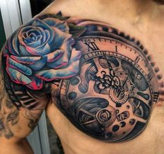 Cool Compass Shoulder Tattoo Designs For Men - Shoulder Tattoos For Men: Best Shoulder Tattoo Ideas and Cool Designs For Guys - Chest, Arm, and Back Shoulder Tattoos