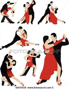 Clipart - Couples dancing a tango. Fotosearch - Search Clip Art ...