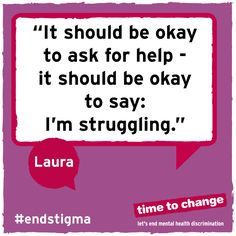 Laura wants people to know how much difference a supportive person can make. #timetotalk