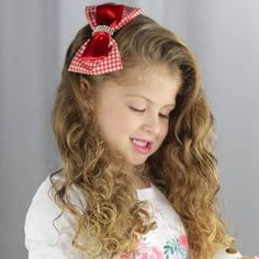 5e9f8cdae4821 Tiara Infantil Vermelha Xadrez Vermelho Xadrez, Fitas De Cetim, Como Fazer  Artesanato, Como