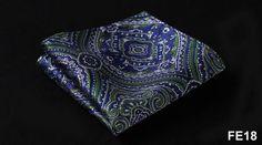 Paisley Floral Houndstooth Men Silk Satin Pocket Square Handkerchief