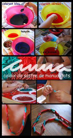 COLLARET DE PASTA TENYIDA AMB COLORANT ALIMENTARI Pasta, Electronics, Projects, Log Projects, Blue Prints, Consumer Electronics, Pasta Recipes, Pasta Dishes