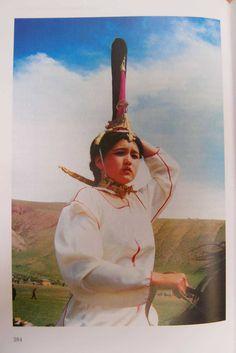 Н. В. Полосьмак - Всадники Укока (Ukoka Riders) Rider wearing what looks like a modern recreation of Princess Ukok's head piece. Pazyryk culture,5th century B.C.